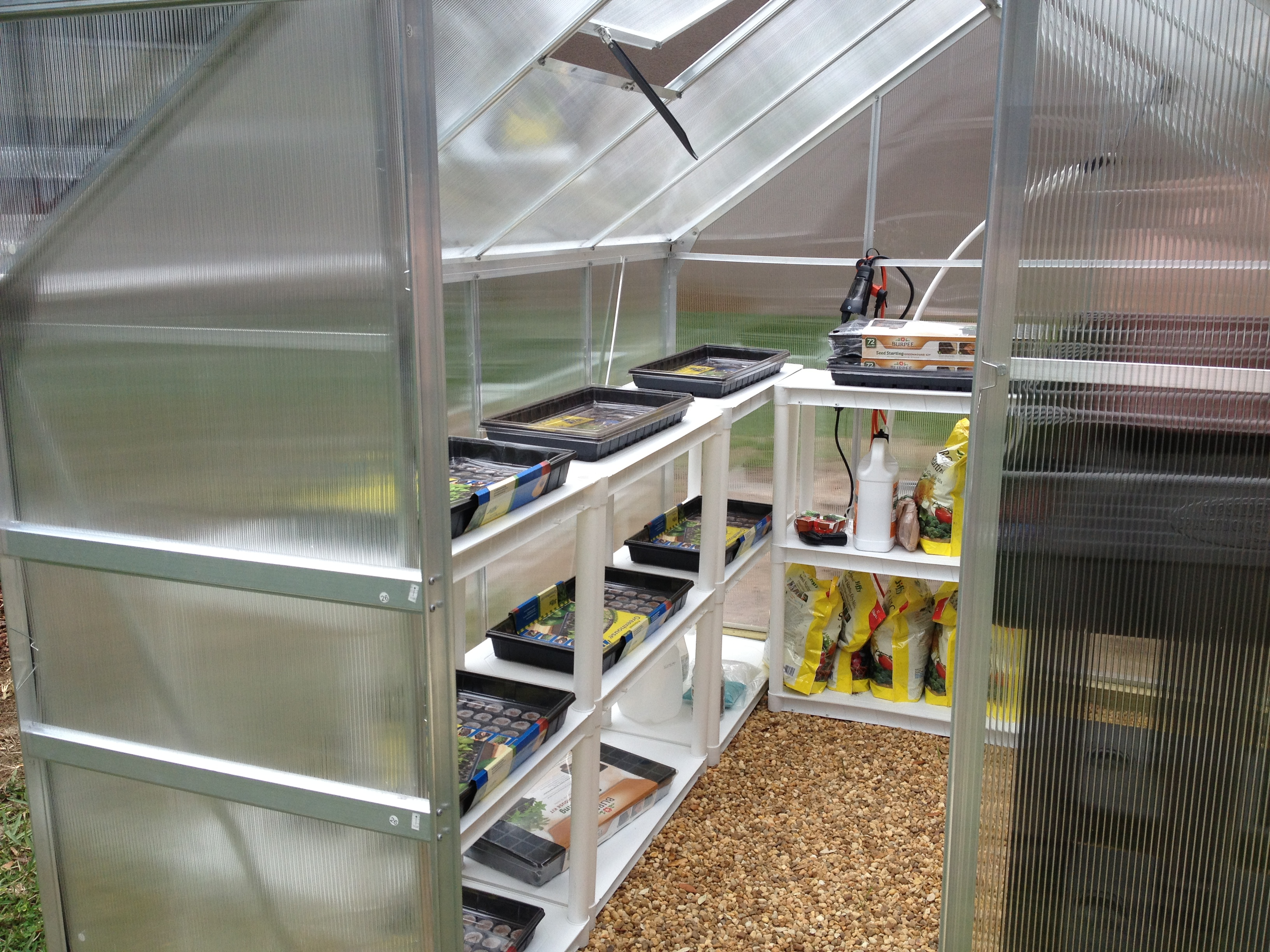 hydroponic and greenhouse install we performed backyard food